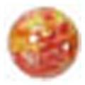 ネイルズマジック カリーノストーン マーブルオレンジ 丸2mm /50P