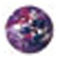 ネイルズマジック カリーノストーン マーブルパープル 丸2mm /50P