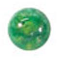 ネイルズマジック カリーノストーン マーブルグリーン 丸3mm /40P