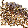 MysticFlakes スワロフスキーラインストーン オーラムゴールド 2mm /20P