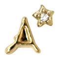 Mpetit オリジナルパーツ A144 イニシャルミニA &タイニースター ゴールド