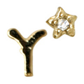 Mpetit オリジナルパーツ A151 イニシャルミニY &タイニースター ゴールド