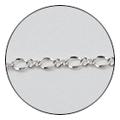 Jewelry-Nail CH-0006 レースチェーン シルバー