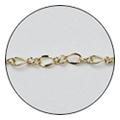 Jewelry-Nail CH-0006 レースチェーン ゴールド