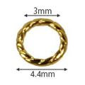 SHAREYDVA ロープフレーム SS12用 ゴールド 50P