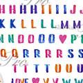 写ネイル More アルファベット カラー