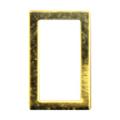 Pieadra ソフト 長方形 2×4mm ゴールド 太(中抜き) 8P