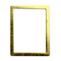 Pieadra ソフト 長方形 4×5.5mm ゴールド 太(中抜き) 8P
