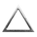 Pieadra ソフト 三角 4mm シルバー 太(中抜き) 8P