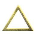 Pieadra ソフト 三角 4mm ゴールド 太(中抜き) 8P