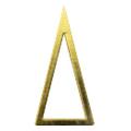 Pieadra ソフト 三角 3×6mm ゴールド 太(中抜き) 8P