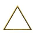 Pieadra ソフト 三角 4mm ゴールド 細(中抜き) 8P