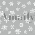 Amaily ネイルシール NO.3-15 雪の結晶 白