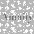 Amaily ネイルシール NO.1-8 花シルエット 白