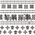 Amaily ネイルシール NO.1-11 ハワイアン 黒