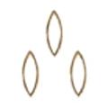 Bonnail ×RieNofuji ループリーフ S ゴールド 10P