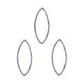 Bonnail ×RieNofuji ループリーフ M シルバー 6P