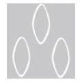 Bonnail ×RieNofuji ループリーフ M ホワイト 6P