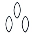 Bonnail ×RieNofuji ループリーフ M ブラック 6P