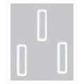 Bonnail ×RieNofuji ループスクエア S ホワイト 10P