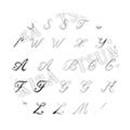 TSUMEKIRA アルファベット シルバー SG-ALP-101