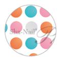 写ネイル More Sheer Dots by Fabric Book Color