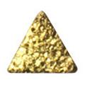 Pieadra ネイルパーツ シャインプレート トライアングルM ゴールド 3mm/ 20P
