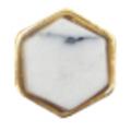 Bonnail ナチュラルストーン&フレーム ホワイトペンタゴン 4P