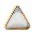Bonnail ナチュラルストーン&フレーム ホワイトトライアングル 4P