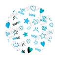 TSUMEKIRA ネイルシール メタリックメッセージ ブルー SG-PRD-113