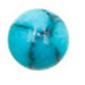 Bonnail ×RieNofuji marumarble マットターコイズ 3mm/18P