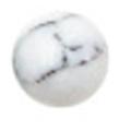Bonnail ×RieNofuji marumarble マットホワイト 3mm/18P