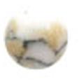 Bonnail ×RieNofuji marumarble オペークホワイト 3mm/18P