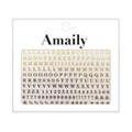 Amaily ネイルシール NO.4-8 アルファベット 大G