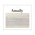 Amaily ネイルシール NO.4-9 アルファベット 小G