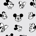 SHAREYDVA ネイルシール ミッキーマウス&ミニーマウス ノスタルジック ブラック×ホワイト