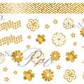 写ネイル 花綴り 金