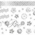 写ネイル 花綴り 銀