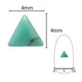 SHAREYDVA ネイルアクセサリー ターコイズプレート 三角 グリーン 5P