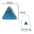 SHAREYDVA ネイルアクセサリー ターコイズプレート 三角 ブルー 5P