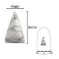 SHAREYDVA ネイルアクセサリー ターコイズプレート 三角ロング ホワイト  5P