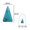 SHAREYDVA ネイルアクセサリー ターコイズプレート 三角ロング ブルー  5P