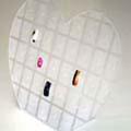 ANNEX チップディスプレイ ハート形 L スタンド 26.0x23.5cm 36穴
