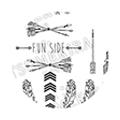 TSUMEKIRA es Arrow&Feather /BK /ES-ARR-102