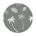 TSUMEKIRA パームツリー ヤシの木 ホワイト NN-PMT-101