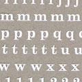 Amaily ネイルシール NO.4-4 アルファベットシリーズ 小文字白
