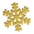 SHAREYDVA TinyTiny 雪の結晶 ゴールド 12P