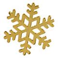 Pieadra TinyTiny 雪の結晶L ゴールド 12P