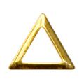 SHAREYDVA スタッズ 三角 中抜き ゴールド 3mm / 50P