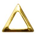 SHAREYDVA スタッズ 三角 中抜き ゴールド 2mm / 100P